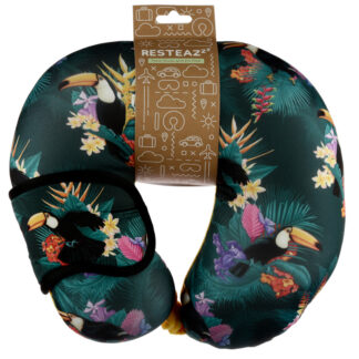 Toucan Party Relaxeazzz Travel Pillow  and  Eye Mask Set