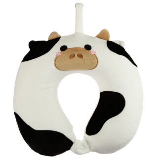 Cutiemals Cow Relaxeazzz Plush Memory Foam Travel Pillow
