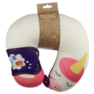 Unicorn Sweet Dreams Relaxeazzz Travel Pillow  and  Eye Mask Set