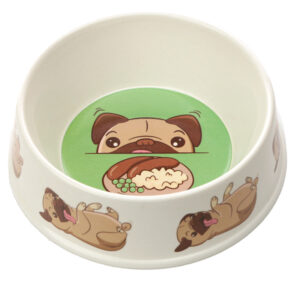 Bamboo Composite Small Mopps Pug Pet Bowl