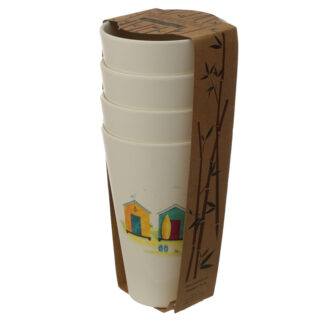 Bamboo Composite Beach Hut Cup Set of 4