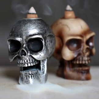 Small Backflow Incense Burner - Skull
