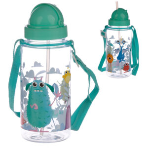 Fun Monsters Design 450ml Childrens Water Bottle