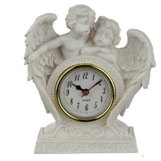 Collectable Peace of Heaven Cherub - Endless Love Mantle Clock
