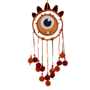 Cute Fun Orange Monster Monstarz Dreamcatcher