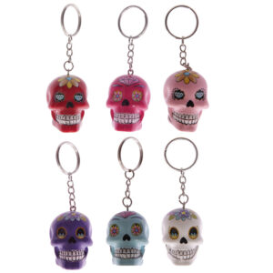 Fun Novelty Day of the Dead Candy Skull Keyring
