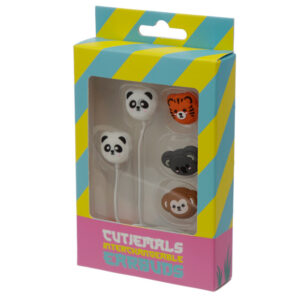 Funky Earphones with 4 Interchangeable Earbuds - Cutiemals