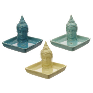 Square Ceramic Eden Ashcatcher Incense Burner - Thai Buddha