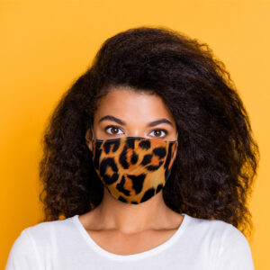Animal Print Reusable Face Covering - Large