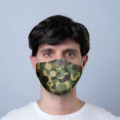 Camouflage Reusable Face Covering - Large