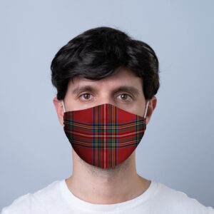 Red Tartan Reusable Face Covering - Large