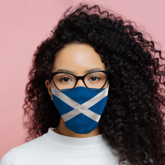 Scotland (Scottish) Flag Reusable Face Covering - Large