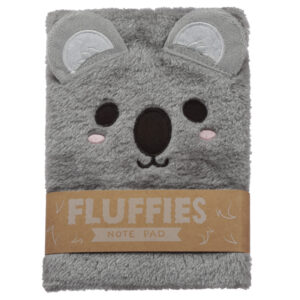 Fluffy Plush Notebook - Cutiemals Koala