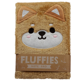 Fluffy Plush Notebook - Cutiemals Shiba Inu Dog