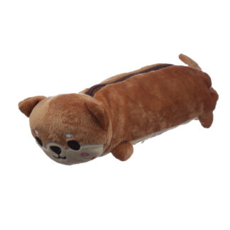 Fluffy Plush Pencil Case - Shiba Inu Dog