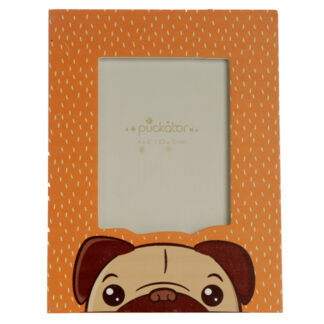 6 x 4 Wooden Photo Frame - Mopps Pug