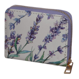 Small Zip Around Wallet - Lavender Fields