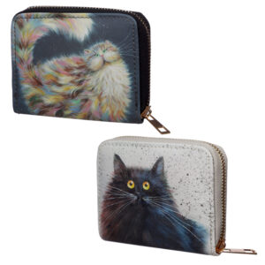 Small Size Around Wallet - Kim Haskins Cat Design