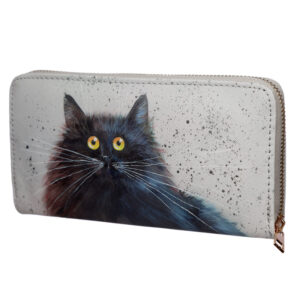 Large Size Around Wallet - Kim Haskins Cat Design