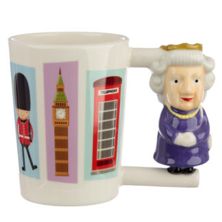 Collectable Shaped Handle Ceramic Mug - Queen
