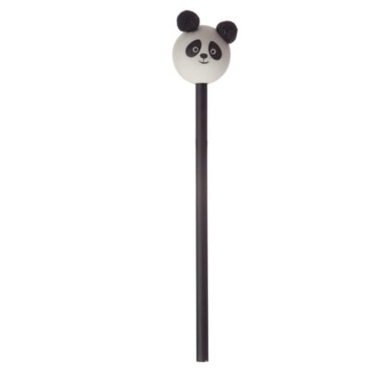 Cute Panda Pom Pom Pencil with Topper