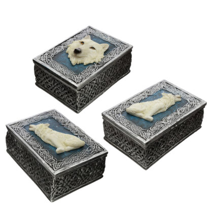 Secrets of the White Wolf Protector of the North Wolf Trinket Box