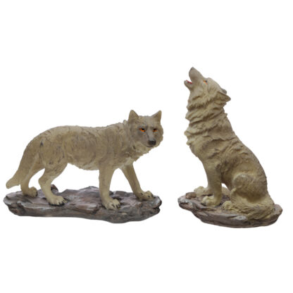 Whispers of the Moon Protector of the North Wolf Figurine