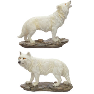 Spirit of the Night Protector of the North Wolf Figurine