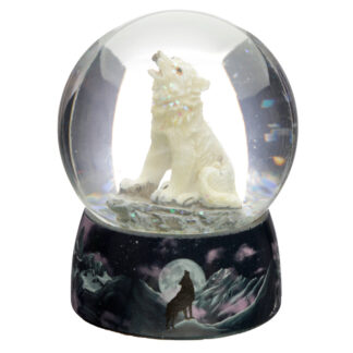 Dreams of the Wind Protector of the North Wolf Snow Globe