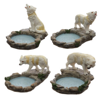 Forest Protector - Protector of the North Wolf Tea Light Candle Holder