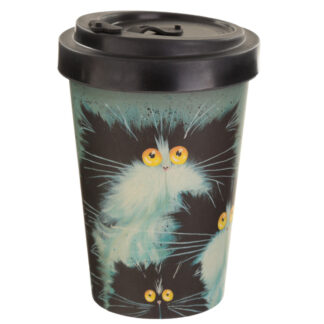 Bamboo Composite Kim Haskins Screw Top Cat Travel Mug