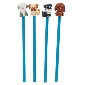 Cute Dog Squad Novelty Pencil with PVC Top