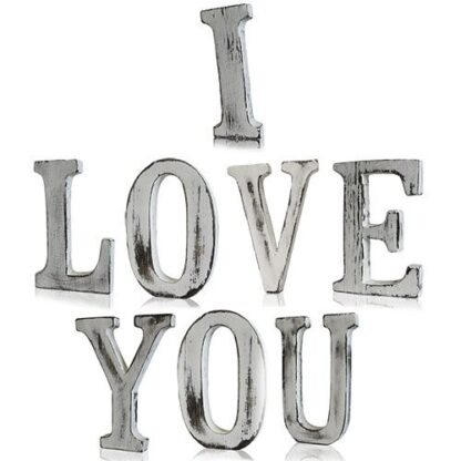 Shabby Chic Letters - I LOVE YOU (8)