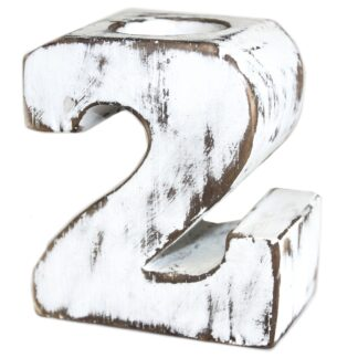 Wooden Birthday Numbers - No.2