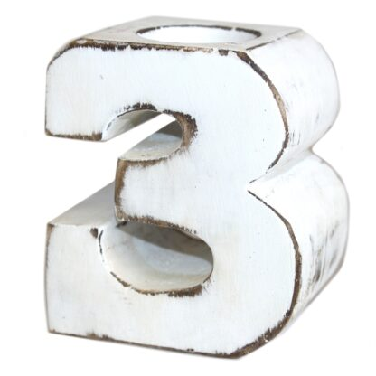 Wooden Birthday Numbers - No.3