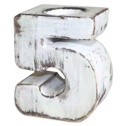 Wooden Birthday Numbers - No.5