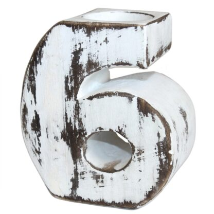 Wooden Birthday Numbers - No.6