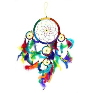 Bali Dreamcatchers - Large Round - Rainbow