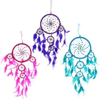 Bali Dreamcatchers - Large Round - Turq/Pink/Purp