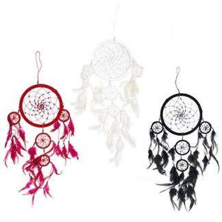 Bali Dreamcatchers - Large Round - Black/White/Red