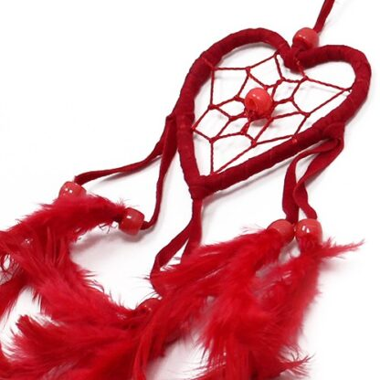 Bali Dreamcatchers - Small Heart - Black/White/Red