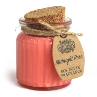 Midnight Rose Soy Pot of Fragrance Candles