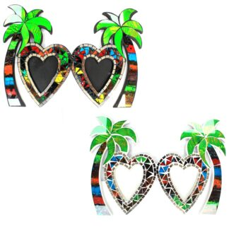 Large Mosaic Coconut Picture Frame - Double