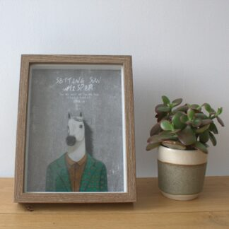 Deep Box Frame - Brown Brush - 6x8 inch (Special)
