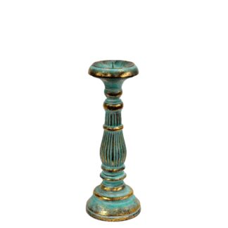 Small Candle Stand - Turquois Gold