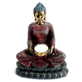Antique Buddha - Devotee Candle Holder