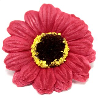 Craft Soap Flowers - Sml Sunflower - Red
