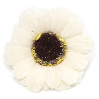 Craft Soap Flowers - Sml Sunflower - Ivory