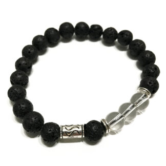 Lava Stone Bracelet - Tribal Rock Quartz
