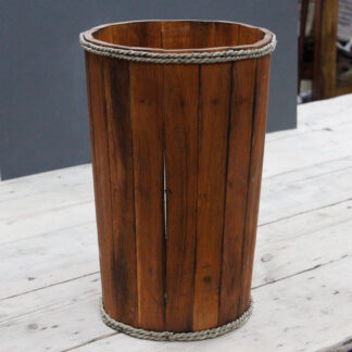 Lrg Nautical Display Tub - Brown 45x32cm